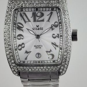 Steel Watch With CRYSTALS!